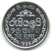 Back of Sri Lanka Coin