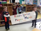 Getting ready for our Peace March.