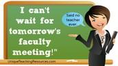 Faculty Meeting Tomorrow