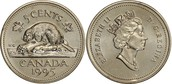 Back and Front of Canadian Coin