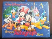 An autograph book signed by all the characters