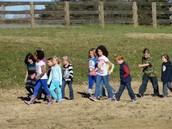 Students Make New Friends on the Buddy Walk!