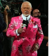 Don Cherry in a pink suit