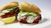Dill cucumber sandwich