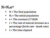 Population Growth Equation