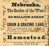 President Lincoln's Homestead act
