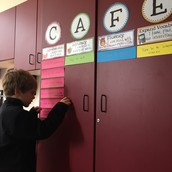 Our CAFE reading strategy wall