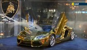 His car is made of gold!!!