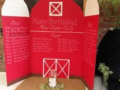 Farm Birthday Poster