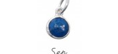September Birthstone Charm - Silver $12