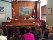 A mock Commissioners' Meeting