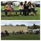 Ms. Martinez's 2nd grade Panthers enjoying some outdoor reading!