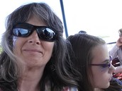 On the Ferry with daughter Inge