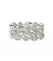 Stackable Deco Rings, size 8