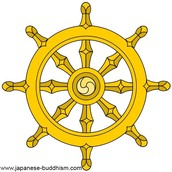 This symbol is the symbol of the Eight Fold Path