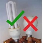 Utiliza bombillos de ahorro de energía