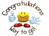 Congratulations !!!!!