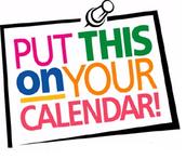 Mark Your Calendars!!!