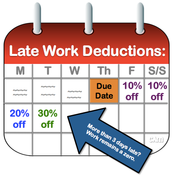 Fall 2015 Late Work Policy