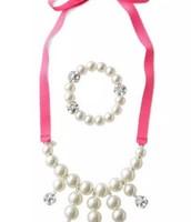 Olive Pearl Bib & Bracelet