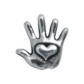 Silver Heart Hand