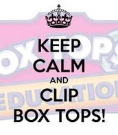 Help Us Earn CA$H by Clipping & Turning in Box Tops!