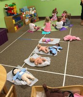 """Renee got the babies to sleep while we had Circle Time. we call her """"The Nap Whisperer"""""""