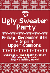 Come to CEN's Ugly Sweater Party Tonight!