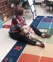 Mrs. Kathy and her Therapy Dog Abby