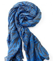 LUXEMBOURG SCARF- CERULEAN TIGER - $24.50
