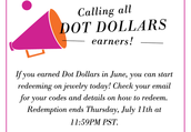 I am sharing my Dot Dollars with all of you!!