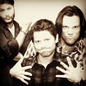 Jensen Ackles, Misha Collins ,and Jared Padalecki