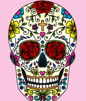 Example of a traditional sugar skull