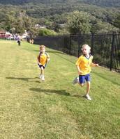 Finn is leading the race!