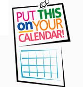 Mark Your Calendars.