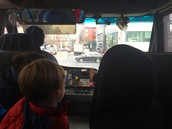 The bus ride on the way to the museum