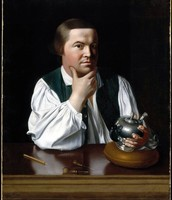Paul Revere makeing silver things