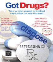 Got Drugs? Rx Drug Take Back Saturday April 30th