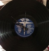 Vinyl Record Clock (LP or 45)