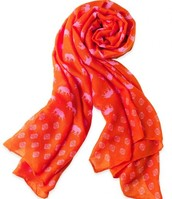 Union Square Scarf: hot pink elephant