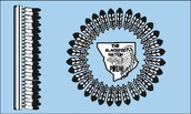 The Black foot tribe flag