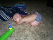 justin fell asleep