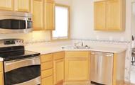 Open, updated kitchen