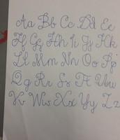 kalligrafie alfabet