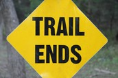 Trail Ends Sign