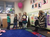 Acting out THE THREE LITTLE PIGS