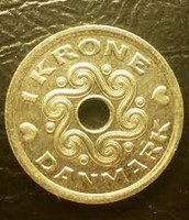 1 Taani kroon, esikülg