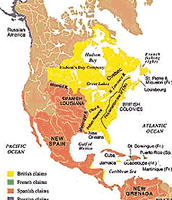 Map of the Territories in 1763