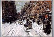 Everett Shinn, Cross Streets of New York, 1899