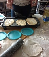 Cooking the chapatis